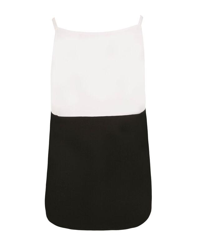 Colourblock Knit Tank, Black/Red/White, hi-res