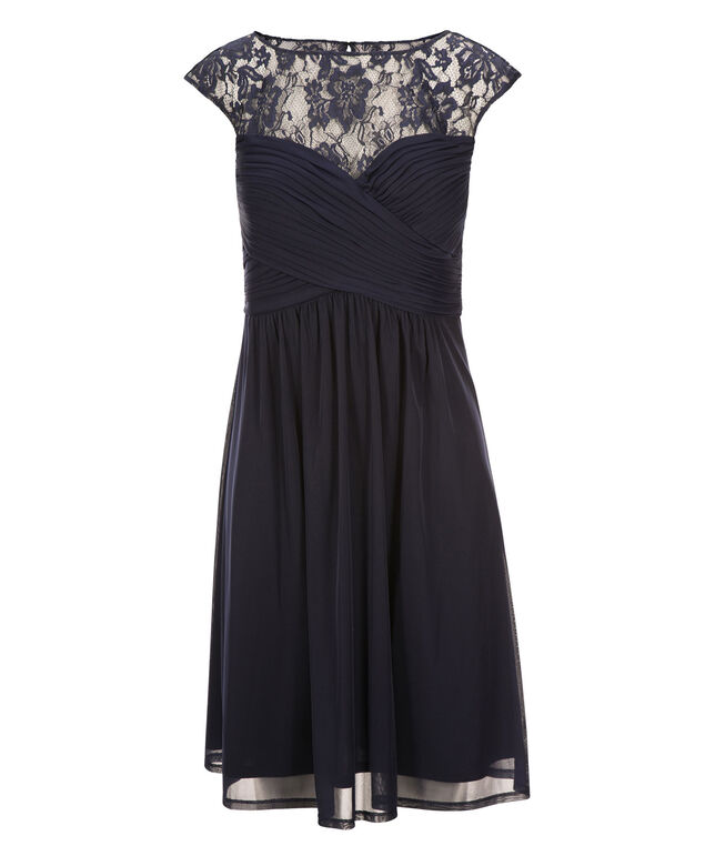 Sweetheart Lace Dress, Navy, hi-res