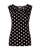 Polka Dot Silver Chain Top, Black/Pink Sand, hi-res