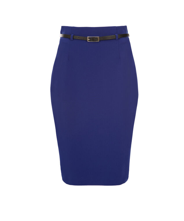 High Waist Pencil Skirt, Sapphire Blue, hi-res