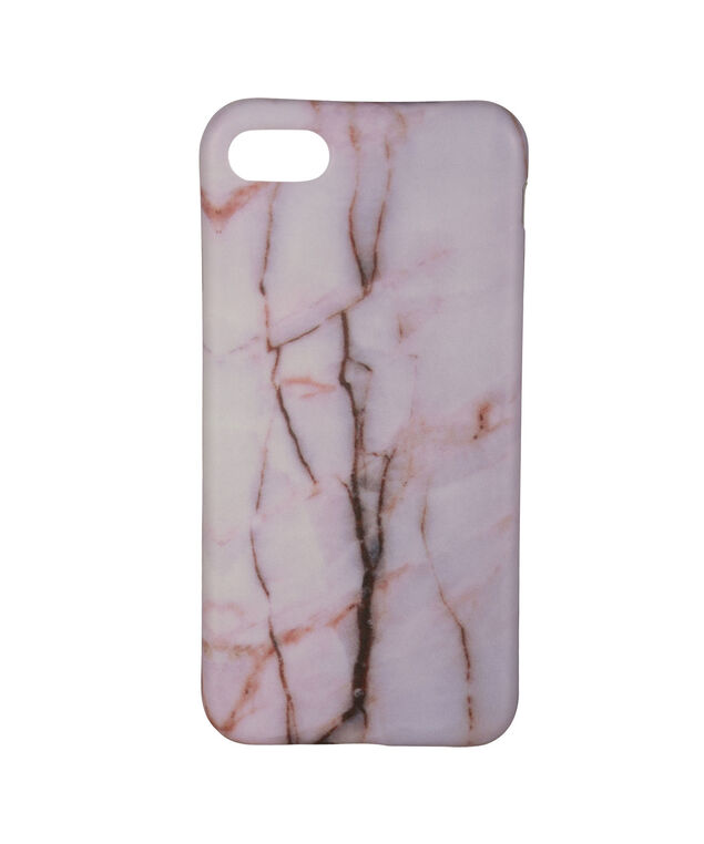 Pink Marble IPhone Case, Pink/White, hi-res