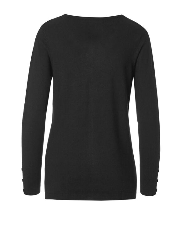Window Pane V-Neck Sweater, Window Pane, hi-res