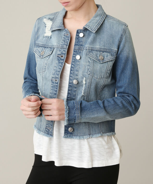 cropped denim jacket, MEDIUM STONEWASH, hi-res