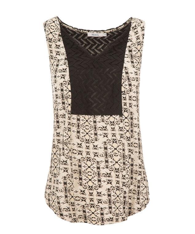Crochet Bib Neutral Tank, Neutral Print, hi-res