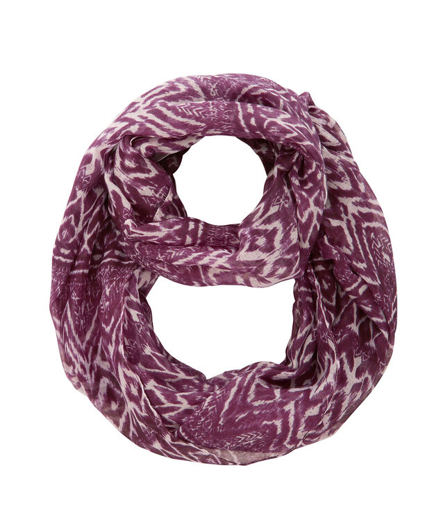 Watercolour Print Eternity Scarf, Deep Violet, hi-res