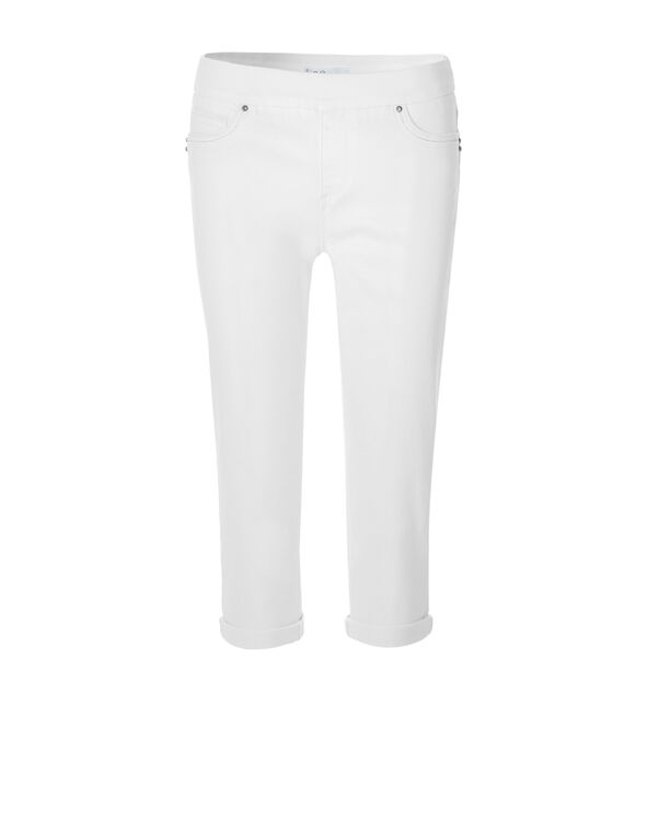 White Every Body Denim Capri, White, hi-res