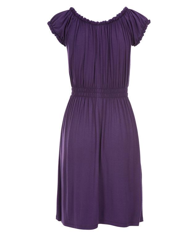 Smocked Waist Dress, Purple, hi-res