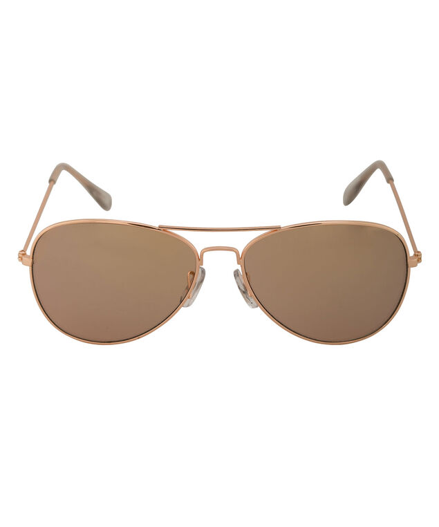 Rose Gold Aviator Sunglasses, Rose Gold, hi-res