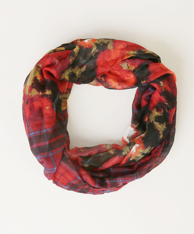 floral eternity scarf, BLACK FLORA, hi-res