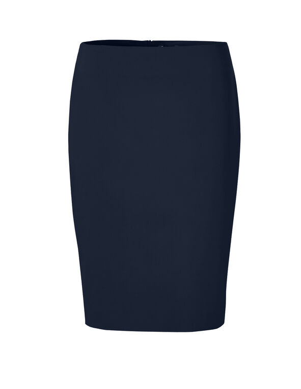 Navy Pencil Skirt, Navy, hi-res