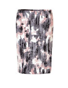Soft Pink Print Pencil Skirt, Soft Pink/Grey/Black/Ivory, hi-res
