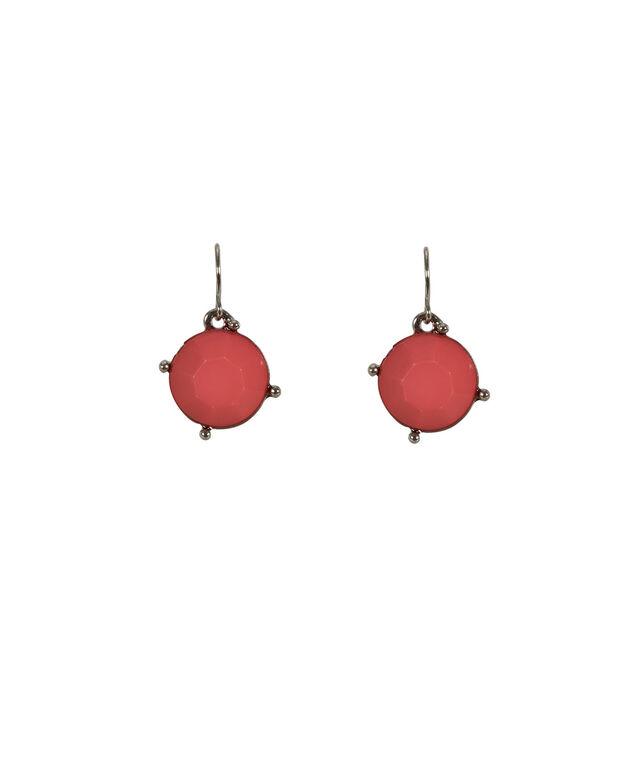 Faceted Square Stone Earring, Strawberry Daiquiri/Rhodium, hi-res