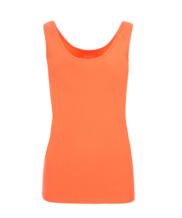 Scoop Neck Built-Up Cami, Soft Orange, hi-res