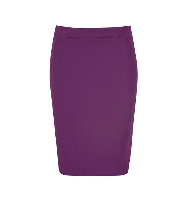 Pull On Pencil Skirt, Purple, hi-res