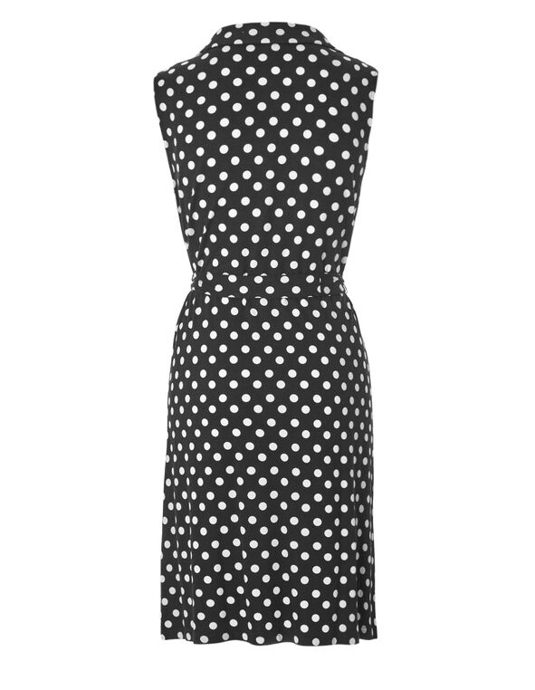 Black Dot Shirt Dress, Black/White, hi-res