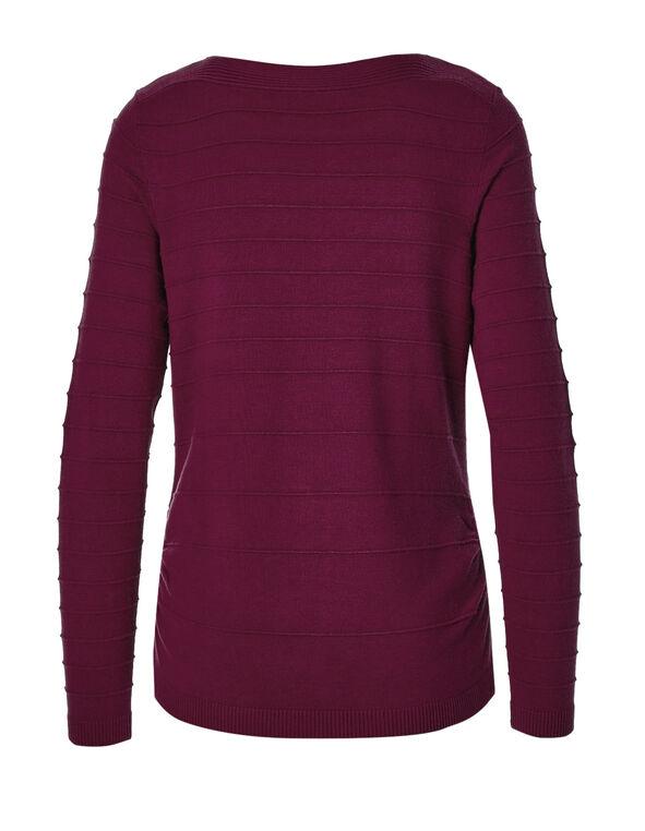 Claret Ottoman Stitch Sweater, Claret, hi-res