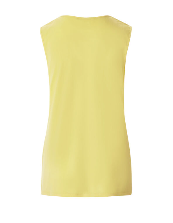 Yellow Sleeveless Chain Top, Yellow, hi-res