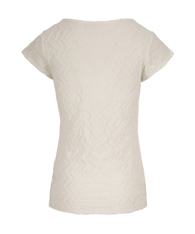 Textured Tee Shirt, Milkshake, hi-res