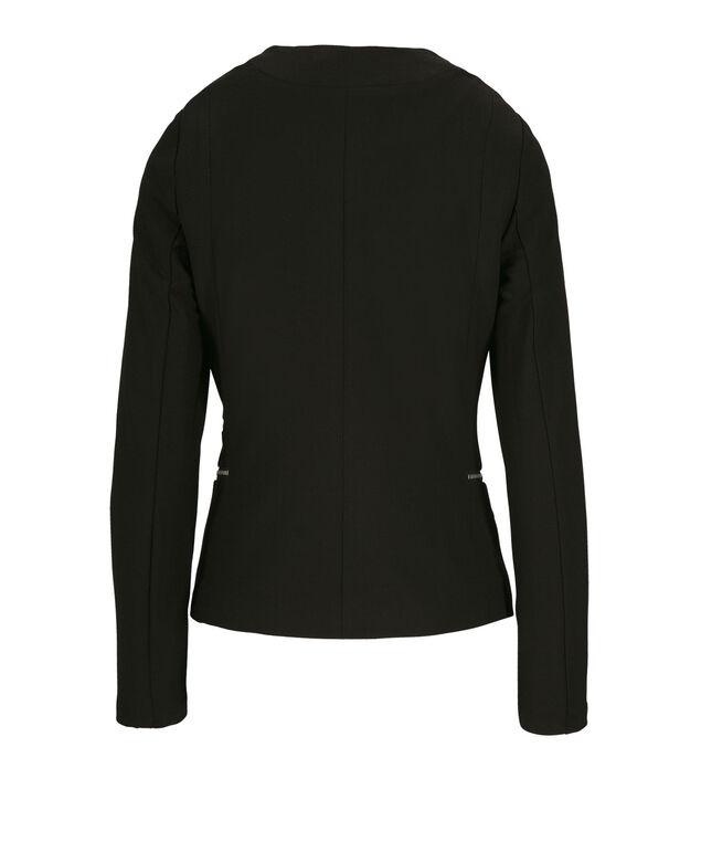 Zipper Detail Blazer, Black, hi-res