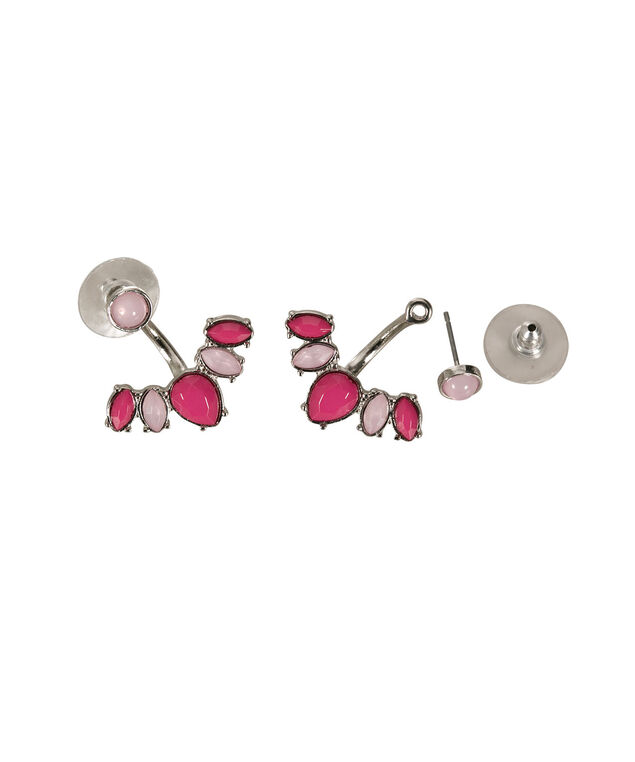 Pretty In Pink Earring, Vibrant Pink/Soft Pink/Rhodium, hi-res