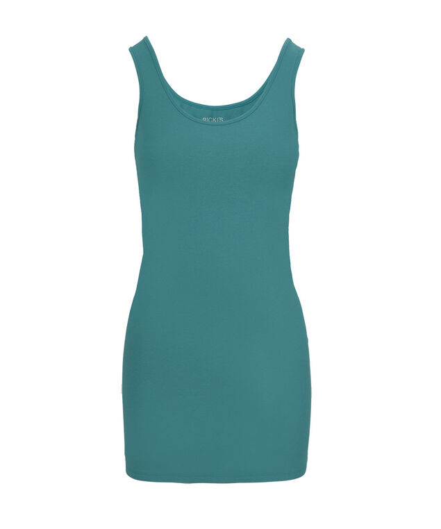 Tunic Length Cami, Mid Teal, hi-res