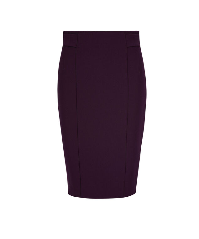High Waist Pencil Skirt, Dark Purple, hi-res