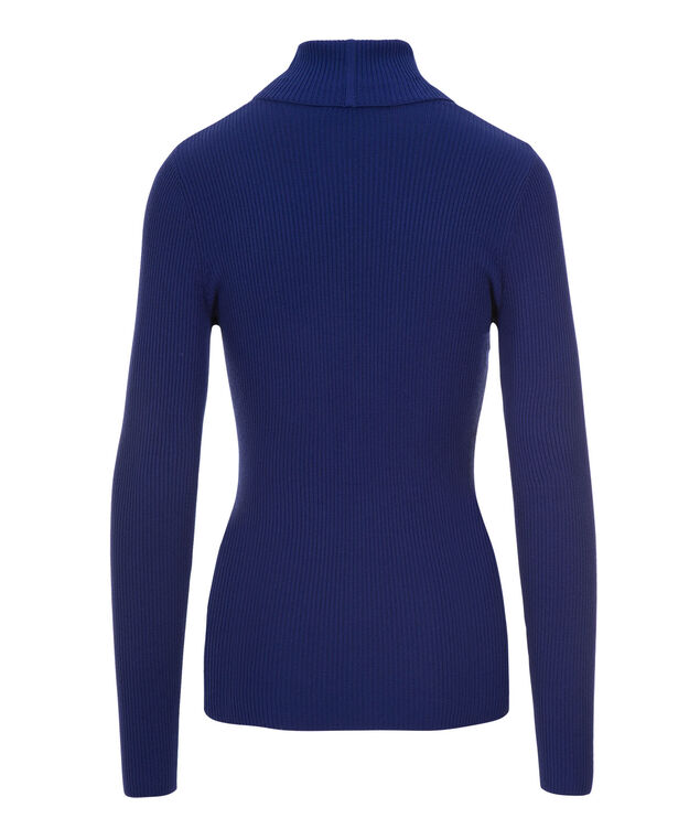 Rib Turtleneck, Royal Blue, hi-res