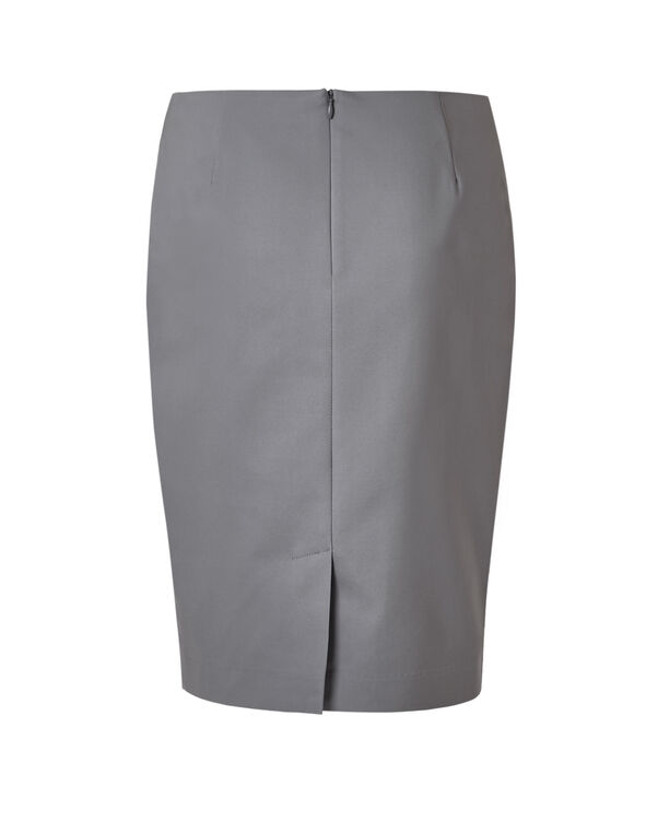 Grey Pencil Skirt, Grey, hi-res