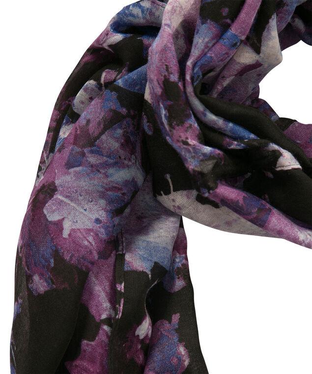 Midnight Garden Eternity Scarf, Purple/Grey/Black, hi-res