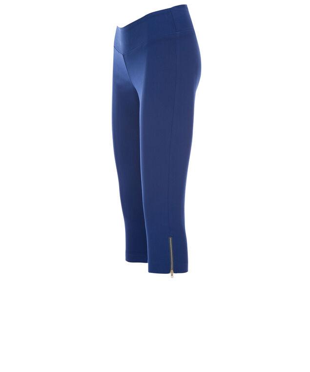 Microtwill Super Slim Zipper Capri, Sapphire, hi-res