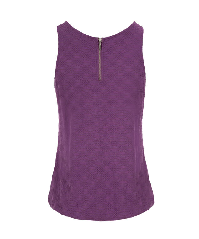 Textured Bubble Tank, Purple, hi-res