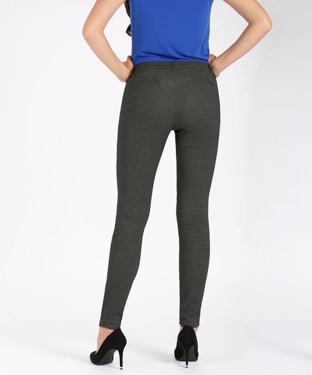 Microtwill Super Slim Leg, Black/Milkshake Pattern, hi-res