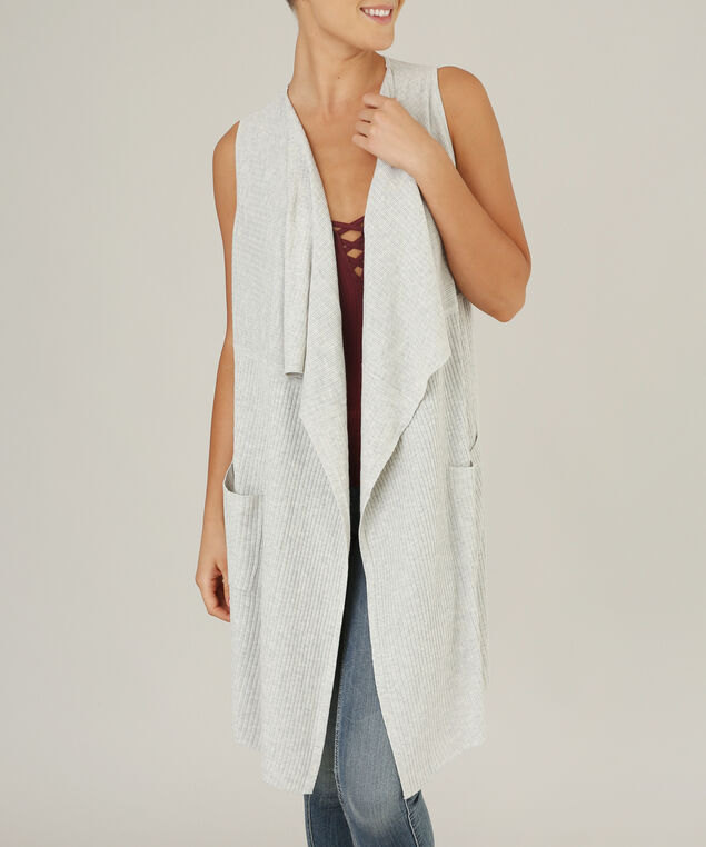 waterfall sweater vest - wb, LT GREY MIX, hi-res