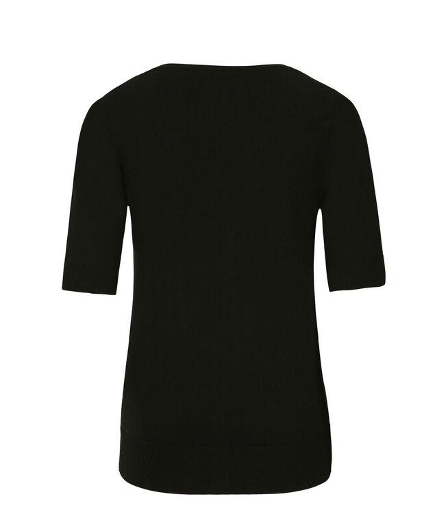 Elbow Sleeve Cardi, Black, hi-res