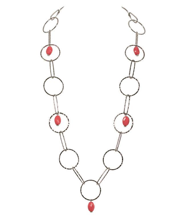 Ring Necklace, Strawberry Daiquiri/Rhodium, hi-res
