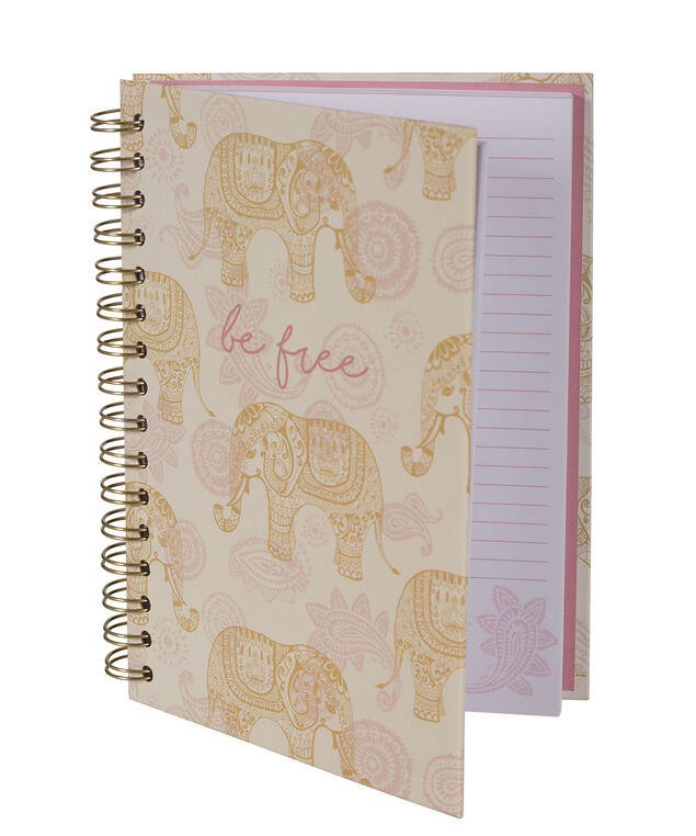 Be Free Notebook, Pink/Gold, hi-res
