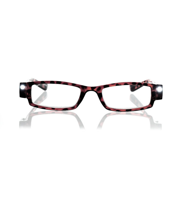 LED Tortoise Shell Frame Reader, Brown/Black, hi-res