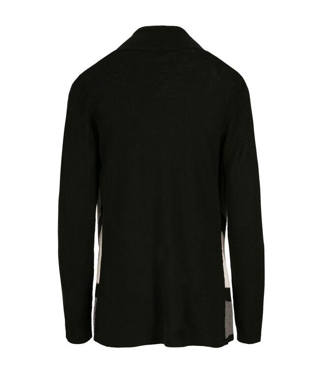 Drape Front Cardi, Black/Grey/Milkshake, hi-res
