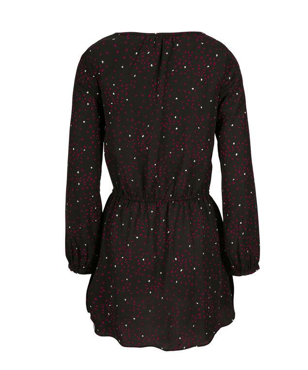 Long Sleeve Tunic, Hot Pink Print, hi-res