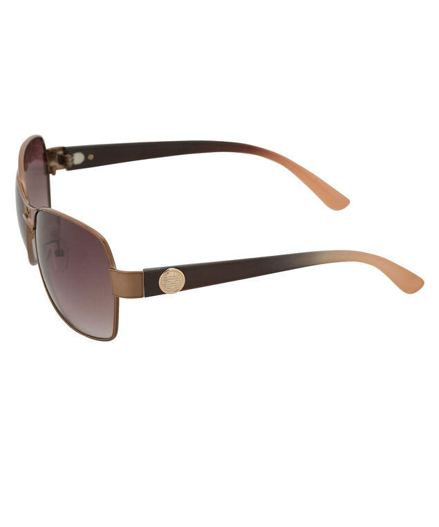 Brown Frame Sunglasses, Brown, hi-res