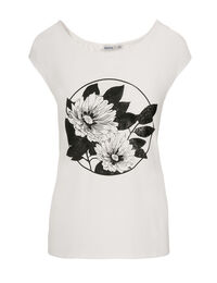 Floral Print Extended Tee