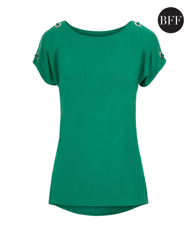 Grommet Cold Shoulder, Sea Green, hi-res