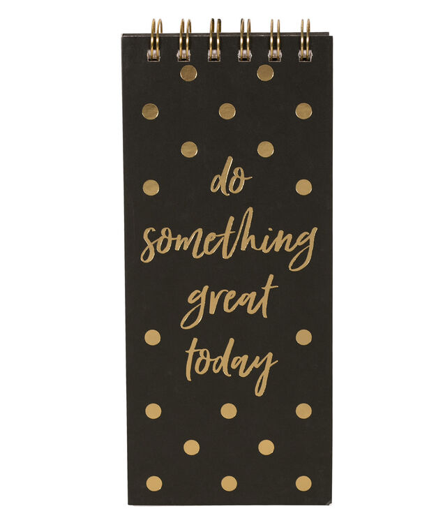 Do Something Great Notebook, Black/Gold, hi-res