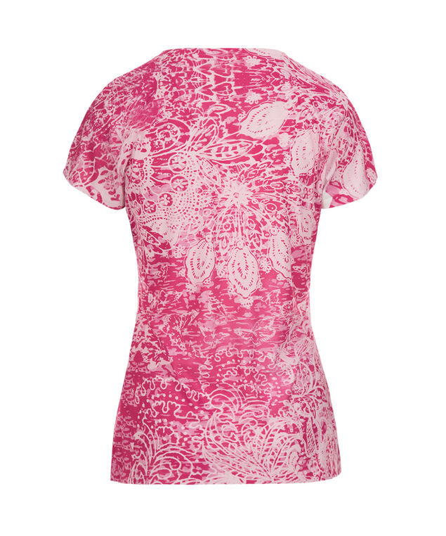 Short Sleeve Embellished Tee, Pink Pattern, hi-res