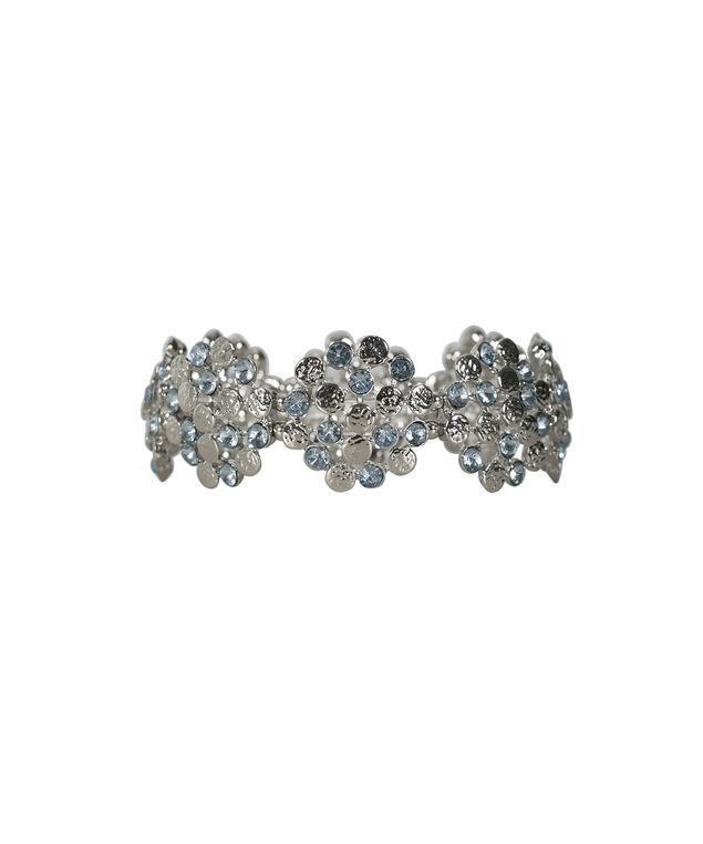 Crystal Blue Circle Bracelet, Light Blue/Rhodium, hi-res