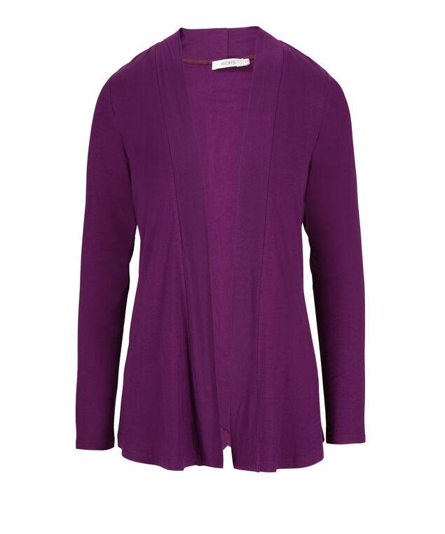 Crossover Back Cardi, Ultra Purple, hi-res