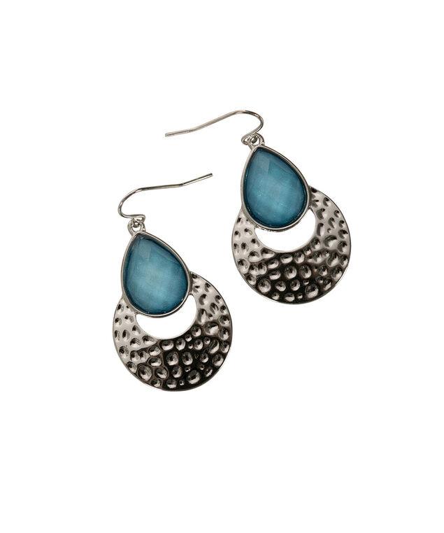 Glitter Stone Teardrop, Ocean Blue/Burnished Silver, hi-res