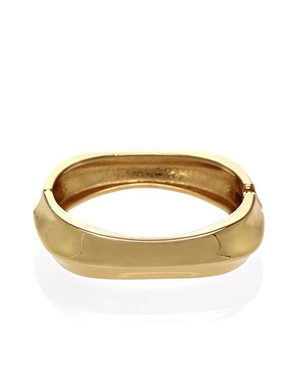 Gold Hinge Bracelet, Gold, hi-res