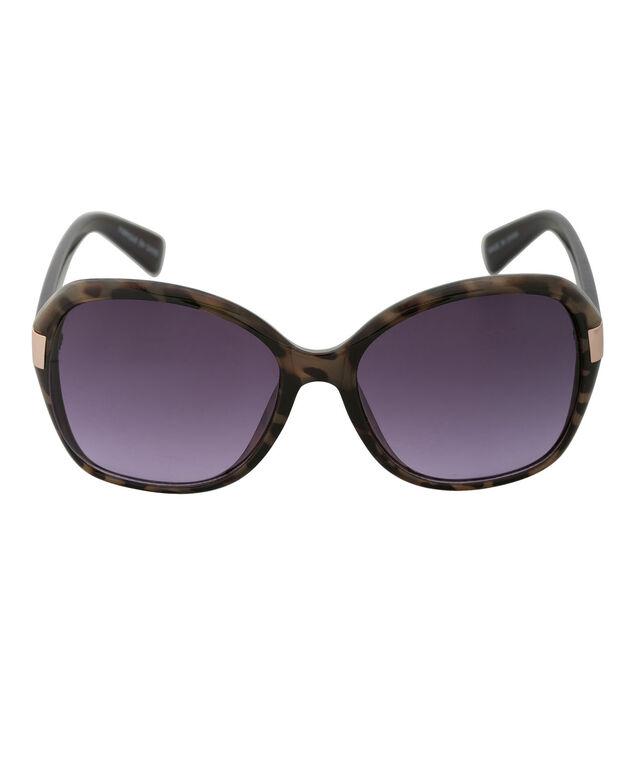 Contrast Colour Arm Sunglasses, Tortoiseshell/Deep Violet, hi-res