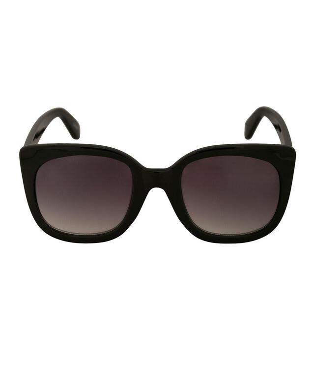 Slight Cateye Arm Detail Sunglasses, Black, hi-res